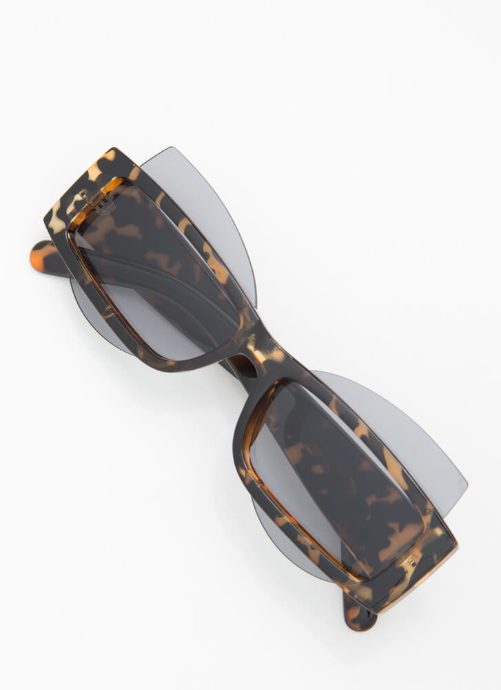Get Stacked Protruding Lens Sunglasses TORT