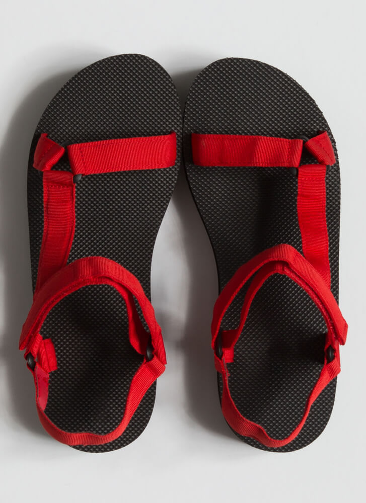 Outdoor Adventures Strappy Sandals RED