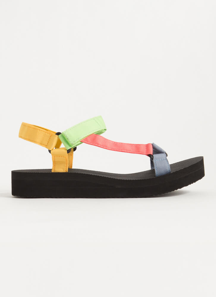Colorful Adventures Strappy Sandals BLUE