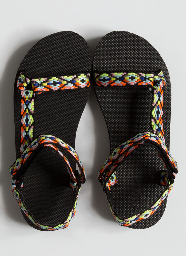 Colorful Adventures Strappy Sandals PINK