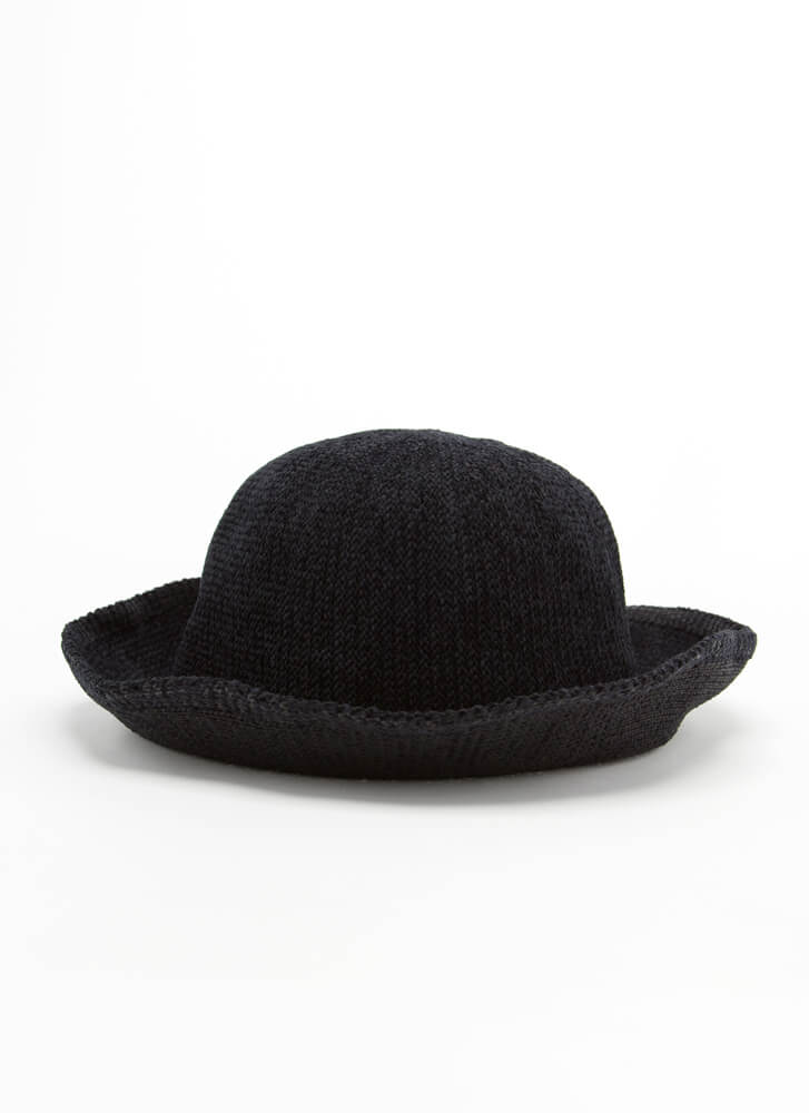 Change Is Coming Convertible Woven Hat BLACK