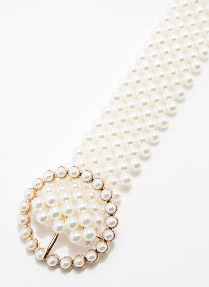 Precious Pearls Belt And Pouch Set IVORY