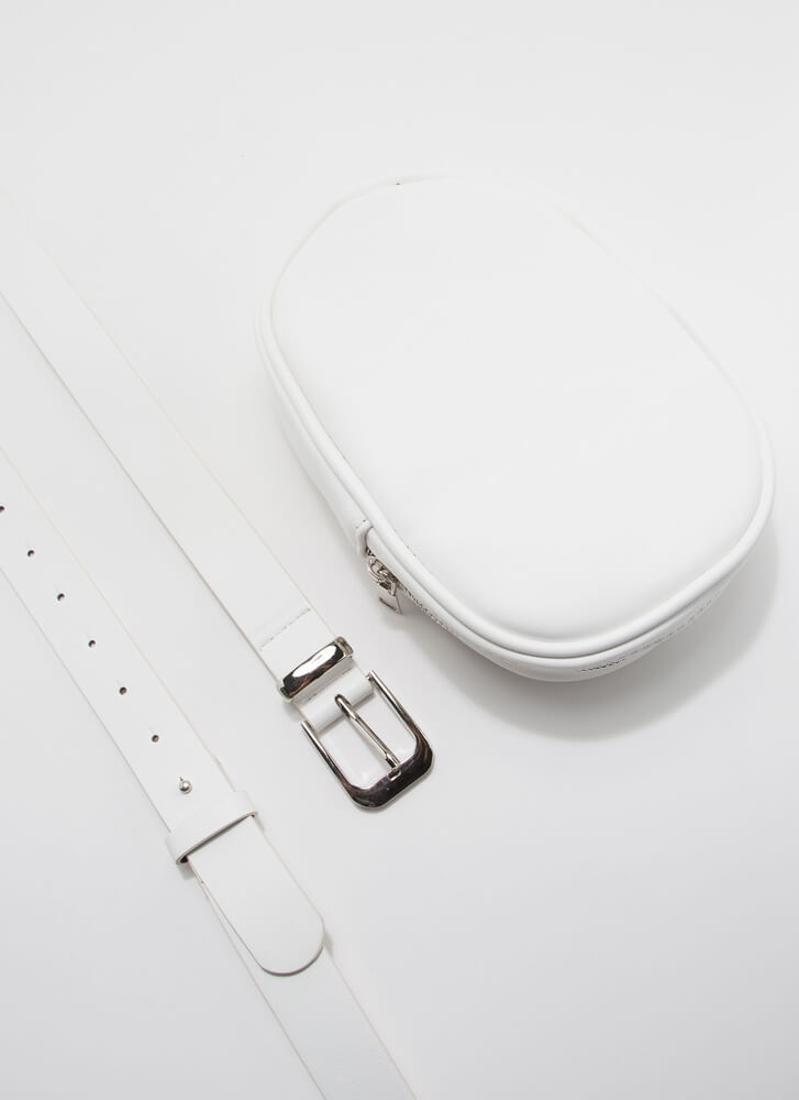 Don't Forget Me Pouch And Belt Set WHITE