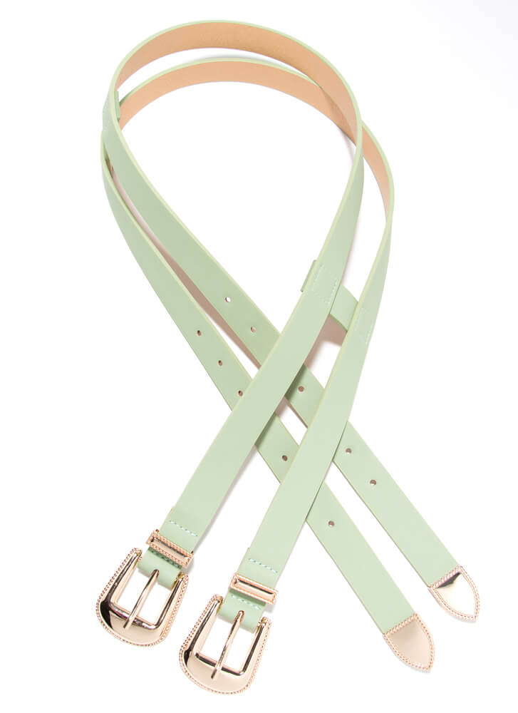 Double Or Nothing 2-Buckle Belt MINT