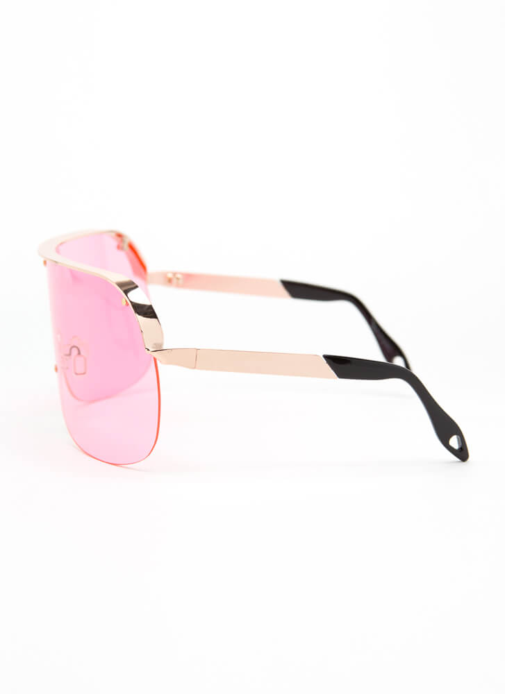 Curve Your Enthusiasm Goggle Sunglasses PINK