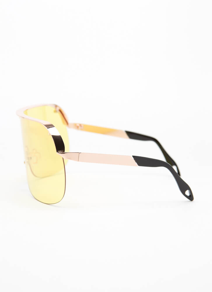 Curve Your Enthusiasm Goggle Sunglasses YELLOW (Final Sale)