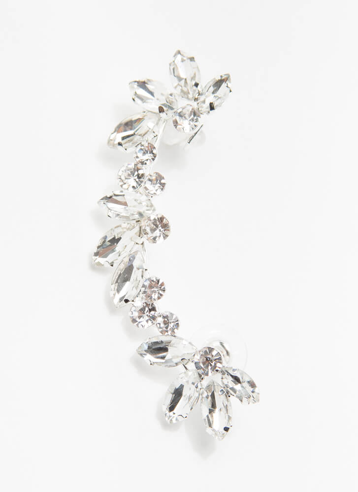 Crystal Clear Message Jeweled Ear Cuff CLEAR
