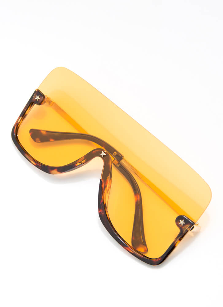 Starring Me Partial Frame Sunglasses YELLOW