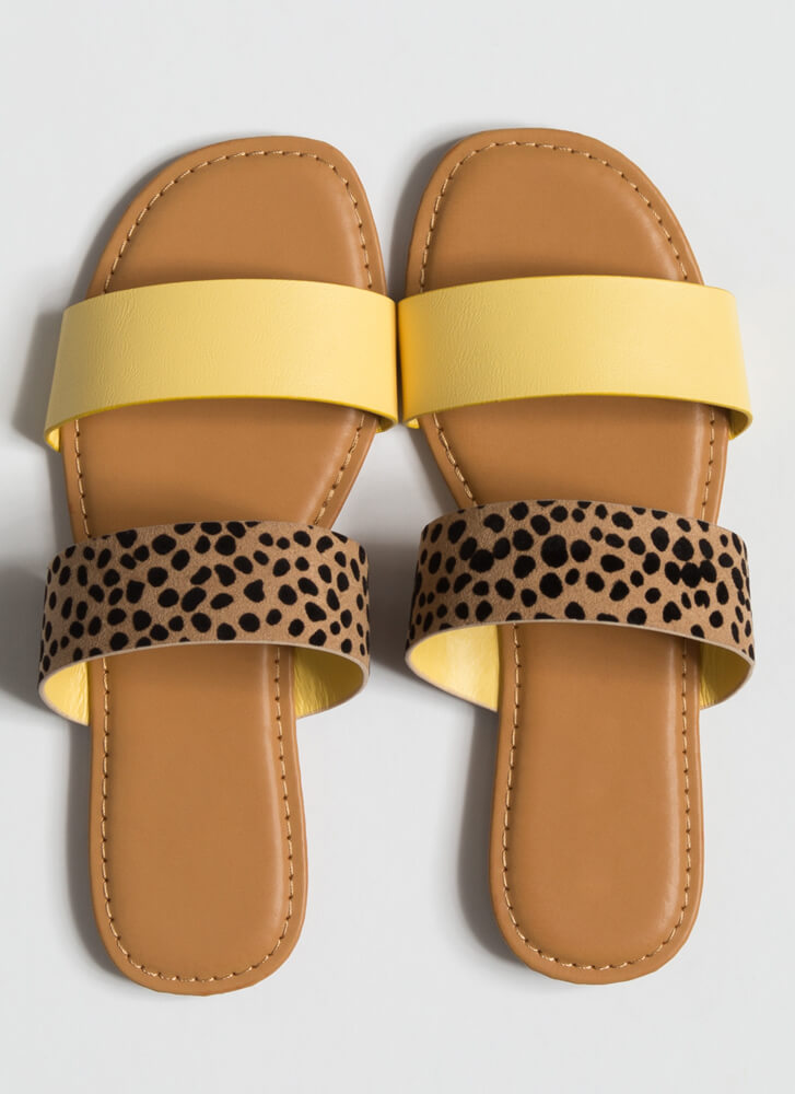 Year Of The Animal Slide Sandals PASTELYELLOW