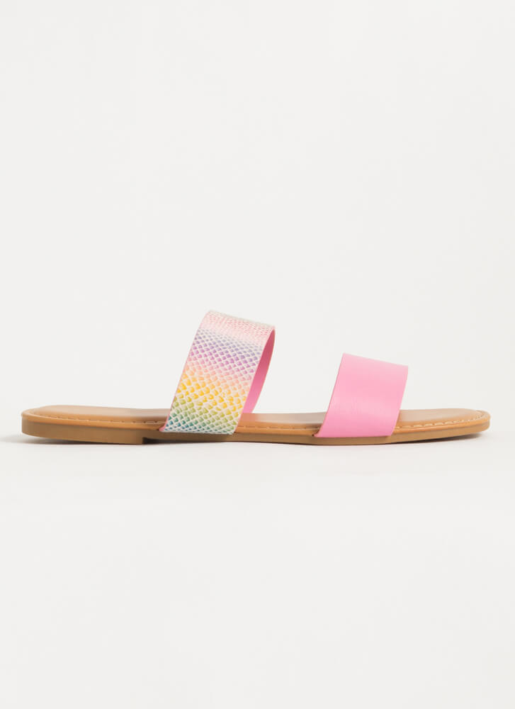 Year Of The Animal Slide Sandals PINK