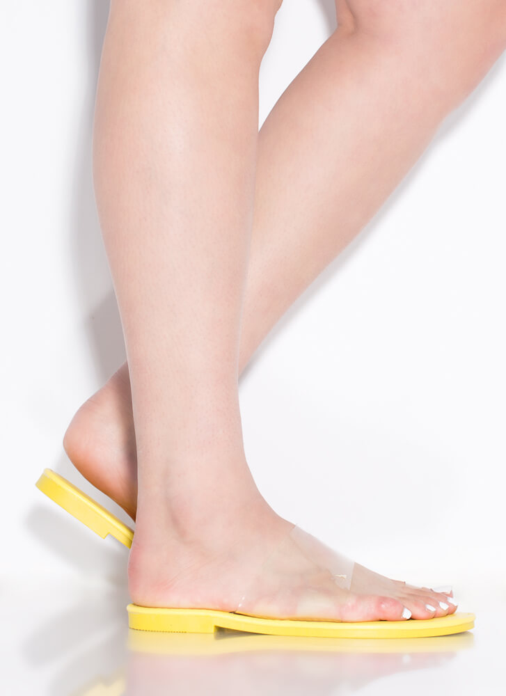 Feet First Clear Illusion Sandals NEONYELLOW