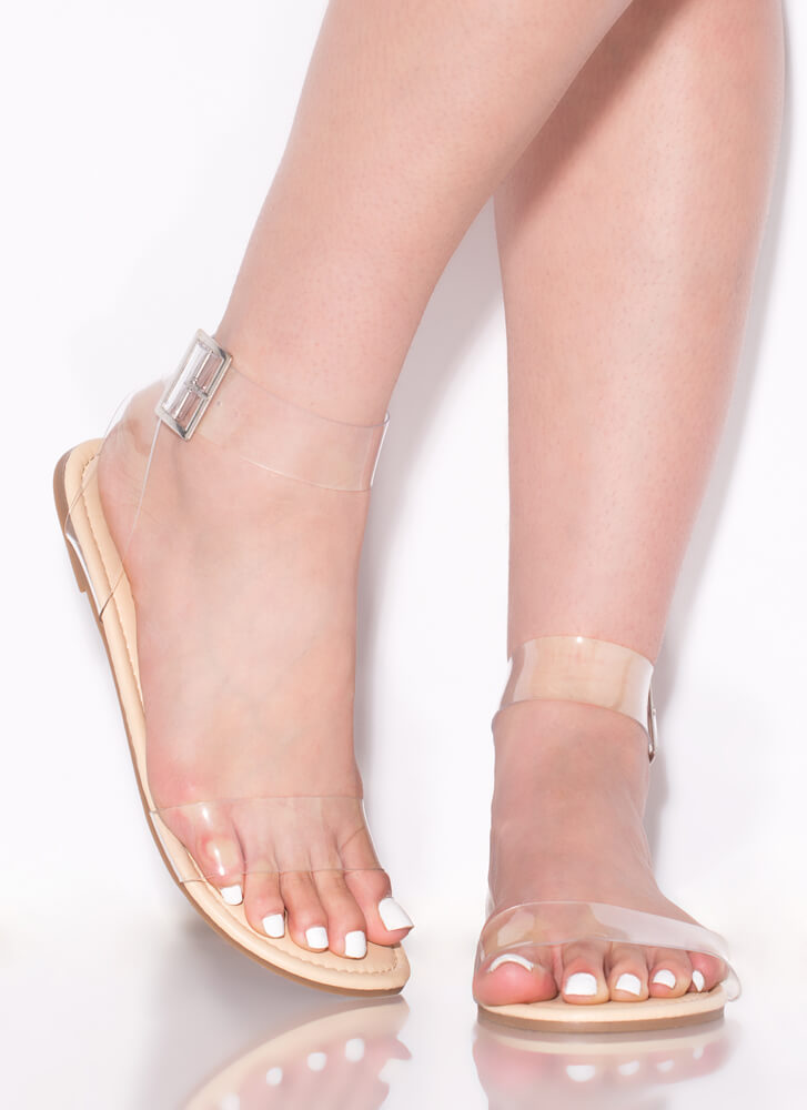 Clear The Air Strappy Illusion Sandals CLEAR