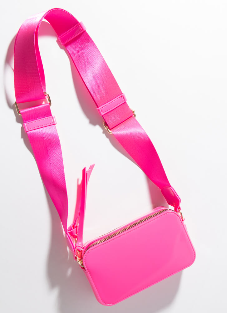 Fashion And Function Glossy PVC Purse ROSE