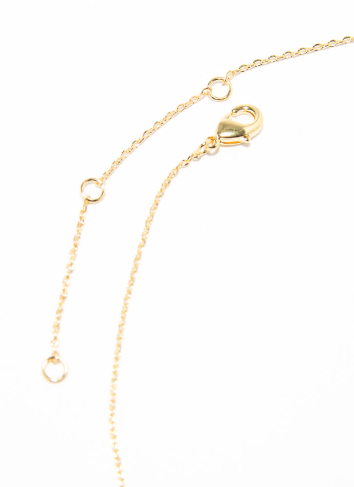 The Letter B Gold-Dipped Charm Necklace GOLD
