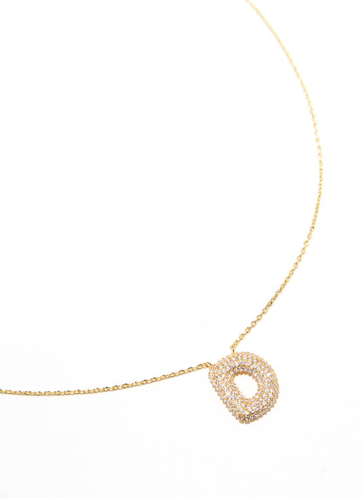 The Letter D Gold-Dipped Charm Necklace GOLD