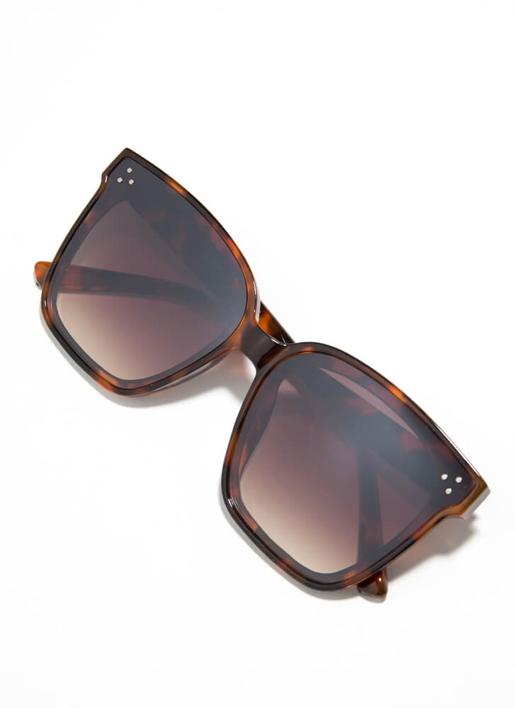 Epitome Of Cool Square Sunglasses BROWN