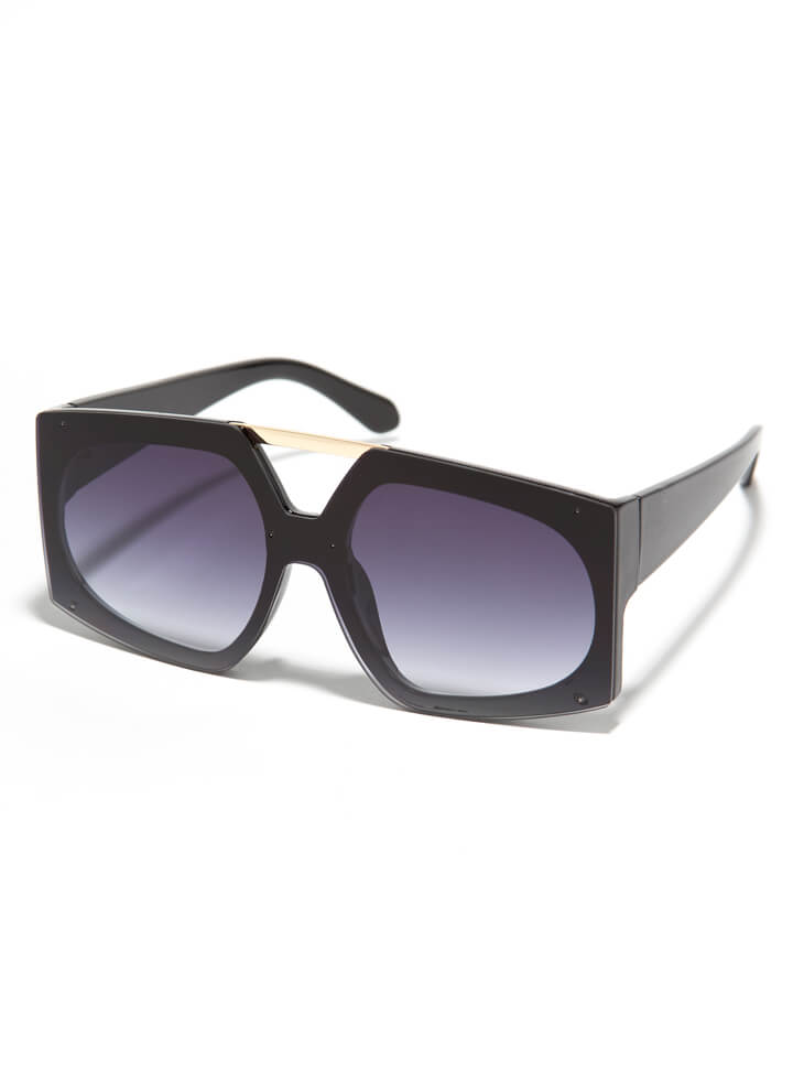 Cut-Out For My Bar Accent Sunglasses BLACK