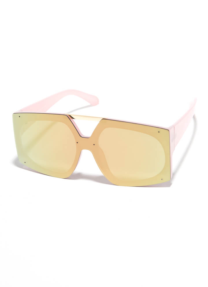 Cut-Out For My Bar Accent Sunglasses PINK