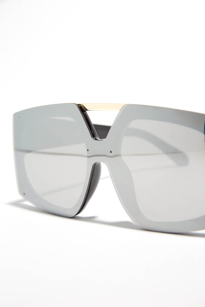 Cut-Out For My Bar Accent Sunglasses SILVER