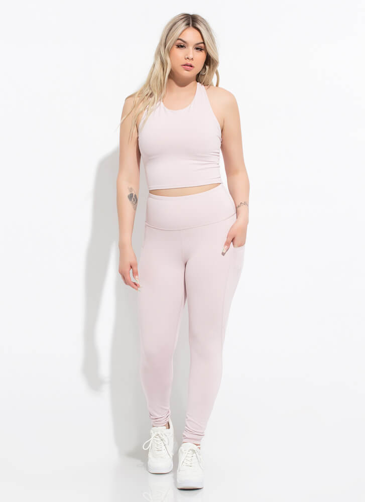Gym Days Pocketed High-Waisted Leggings LTPINK