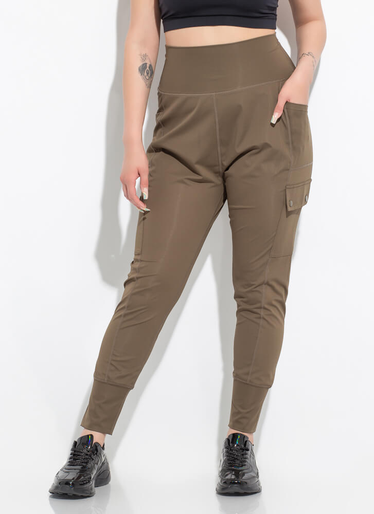 New Combo Drop-Crotch Cargo Joggers OLIVE