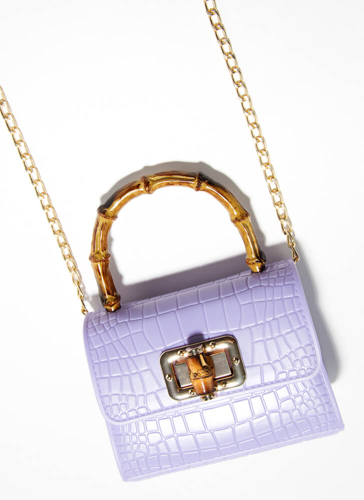 Bamboo Beauty Scaled Mini Jelly Purse LAVENDER