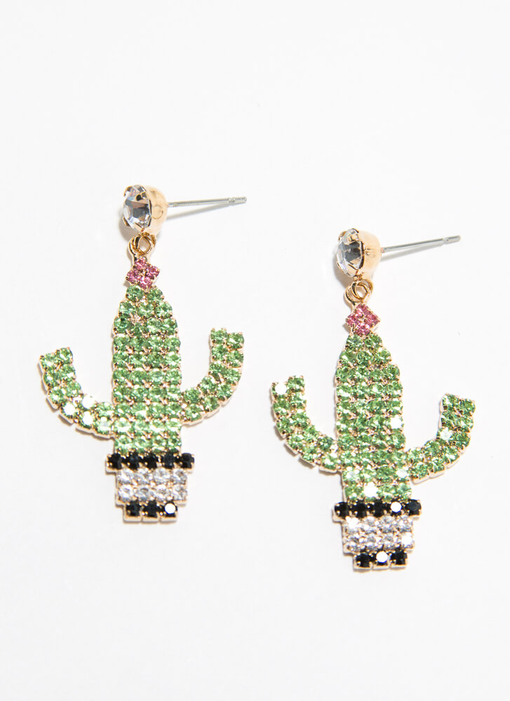 Cactus Coolest Jeweled Earrings CACTUS