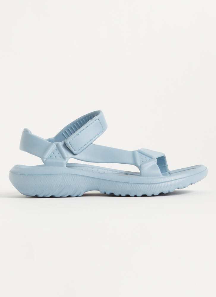This Weekend Sporty Faux Harness Sandals BLUE