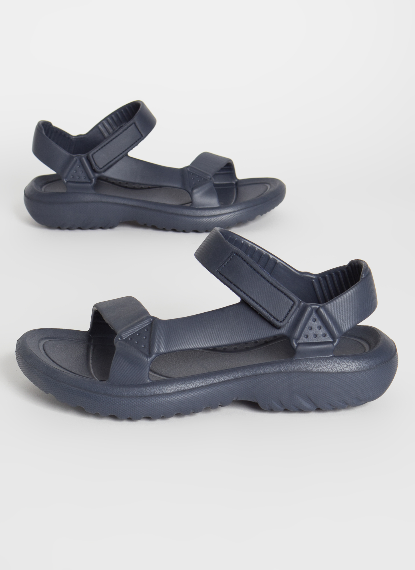 This Weekend Sporty Faux Harness Sandals NAVY