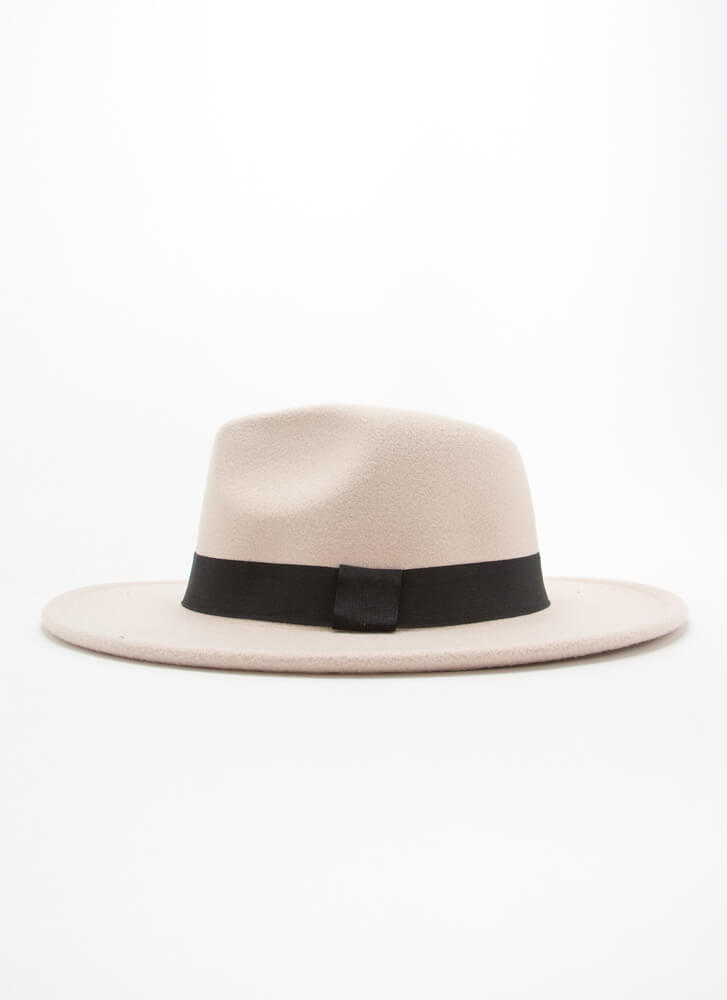 Top Of The Morning To You Felted Fedora IVORY