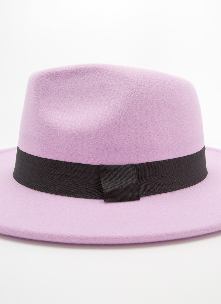 Top Of The Morning To You Felted Fedora PURPLE