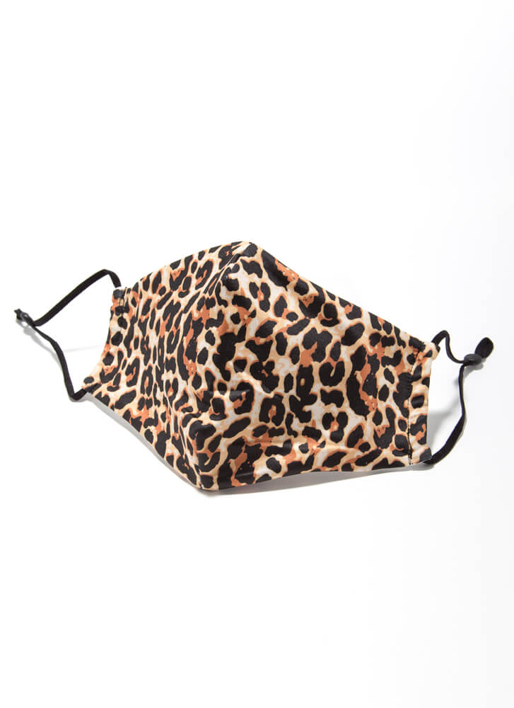 Leopard Everything Pocketed Face Mask LEOPARD