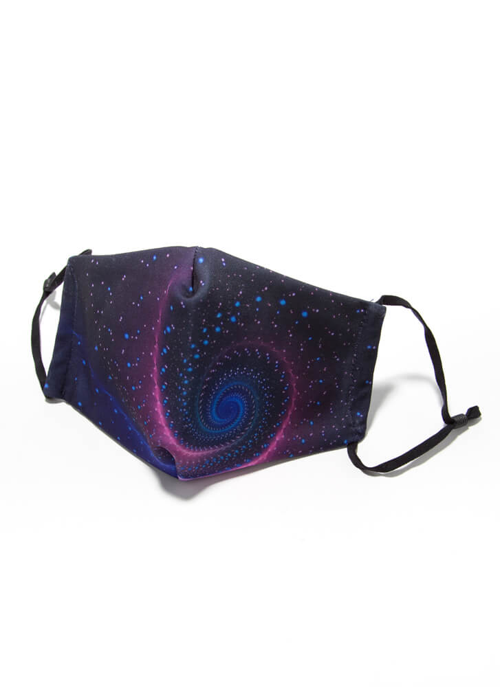 Give Me Space Pocketed Galaxy Face Mask PURPLE