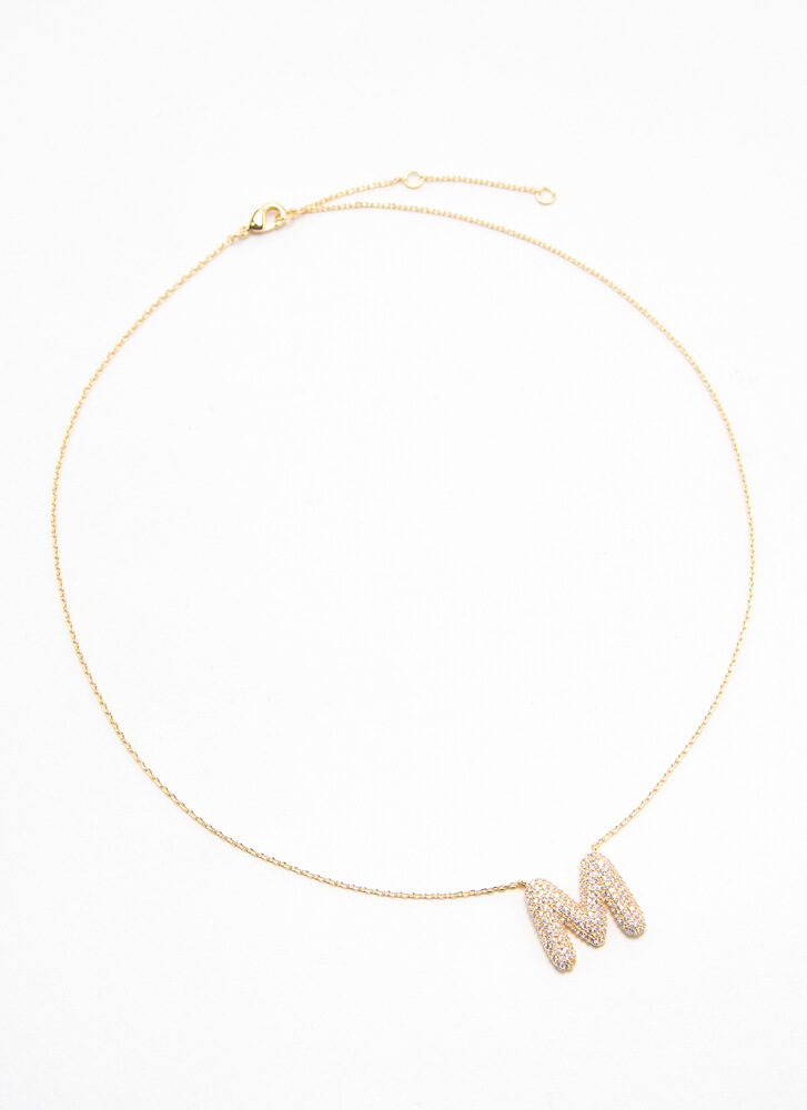 The Letter M Gold-Dipped Charm Necklace GOLD