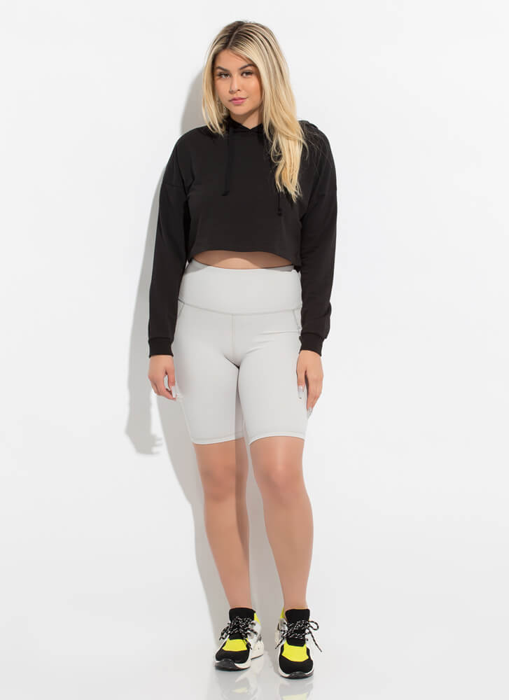 Out For A Run Pocketed Biker Shorts CLOUD