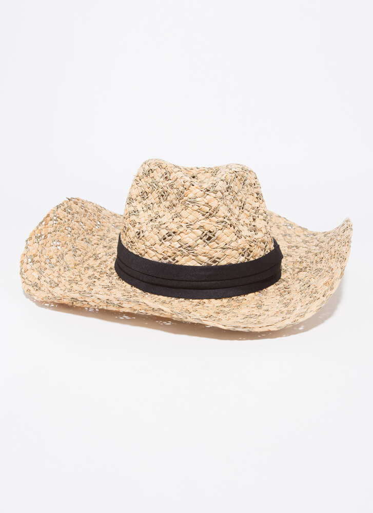 Old Town Road Woven Straw Hat BEIGE