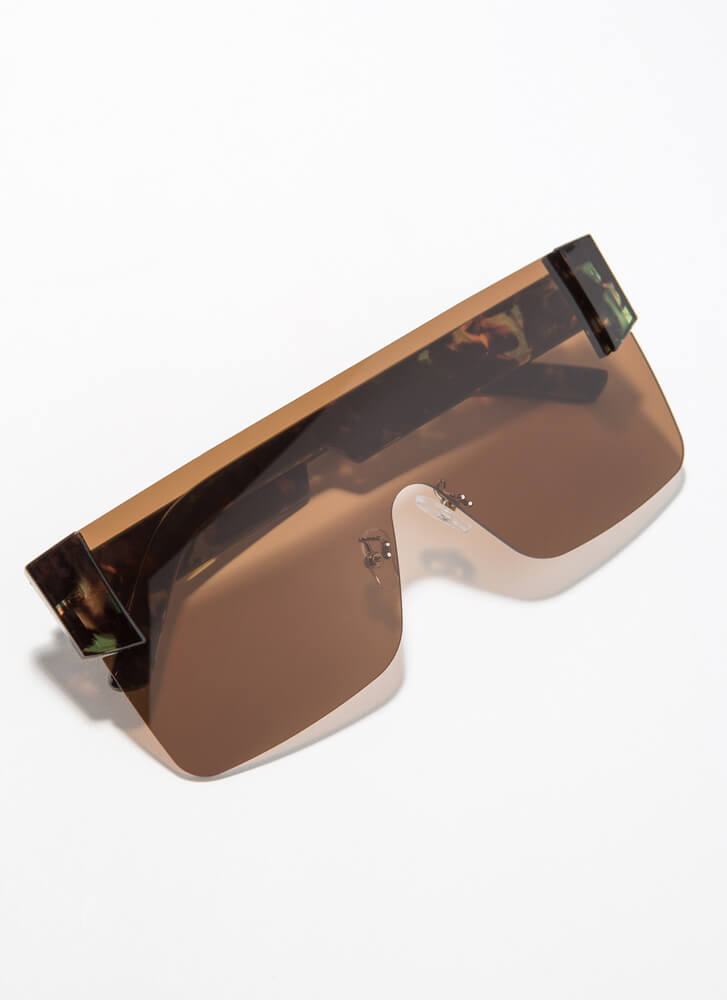 My Style Frameless Square Sunglasses BROWN