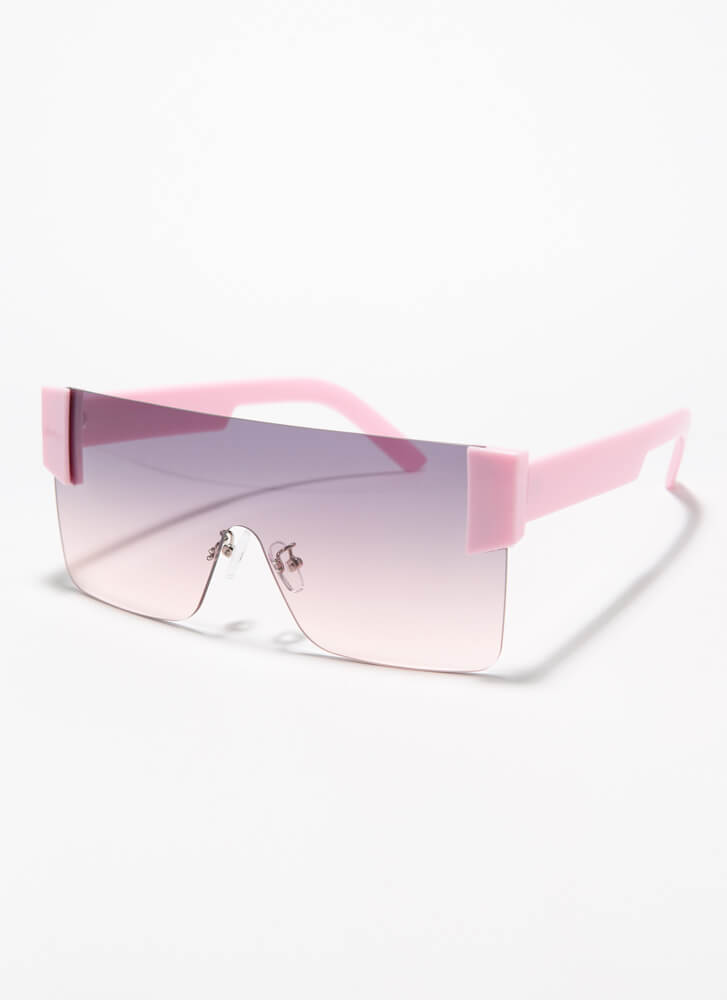My Style Frameless Square Sunglasses PINK