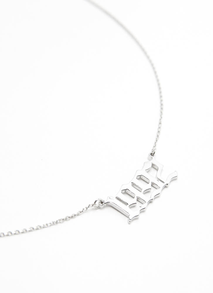 1992 Baby Gold-Dipped Year Necklace SILVER