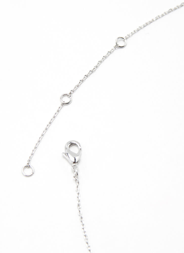 1995 Baby Gold-Dipped Year Necklace SILVER