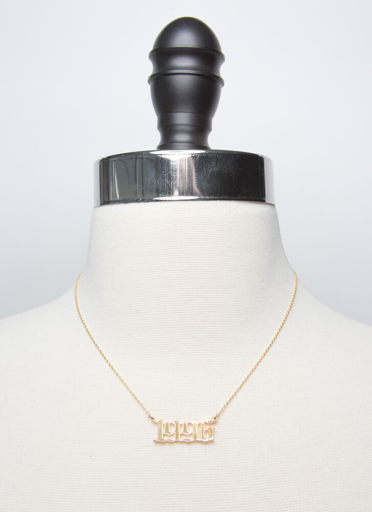 1996 Baby Gold-Dipped Year Necklace GOLD