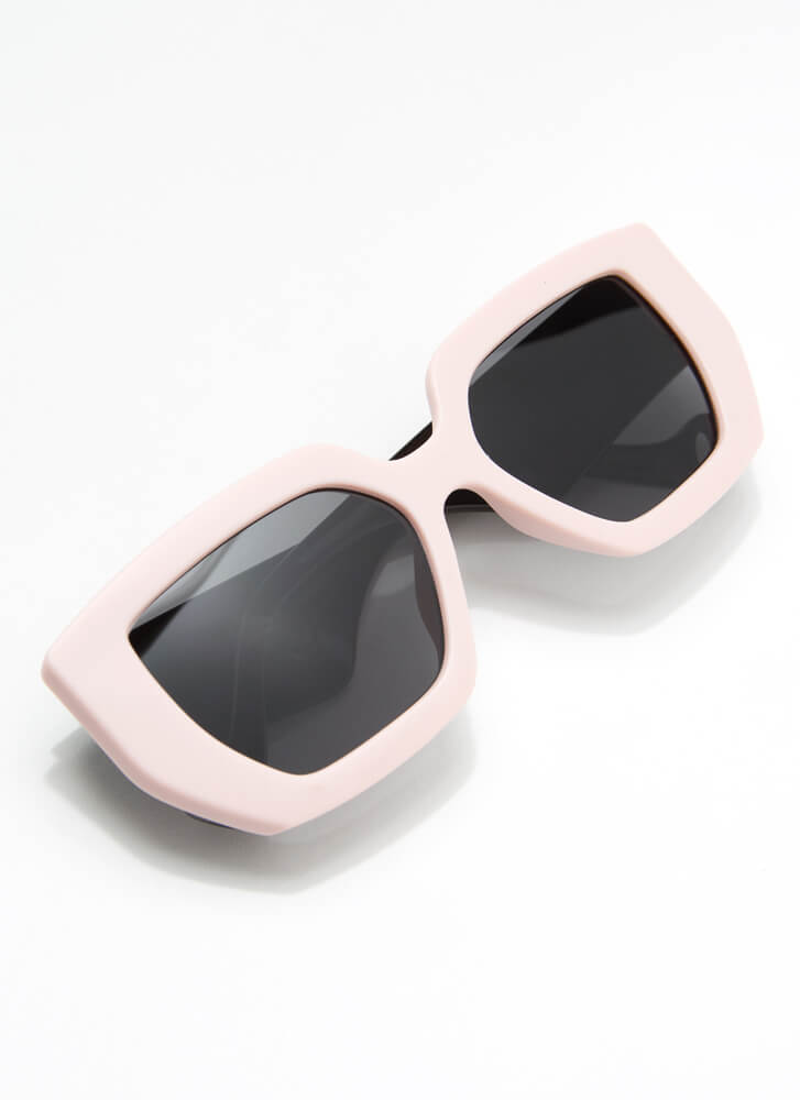 Cool Kids Club Thick-Rimmed Sunglasses PINK