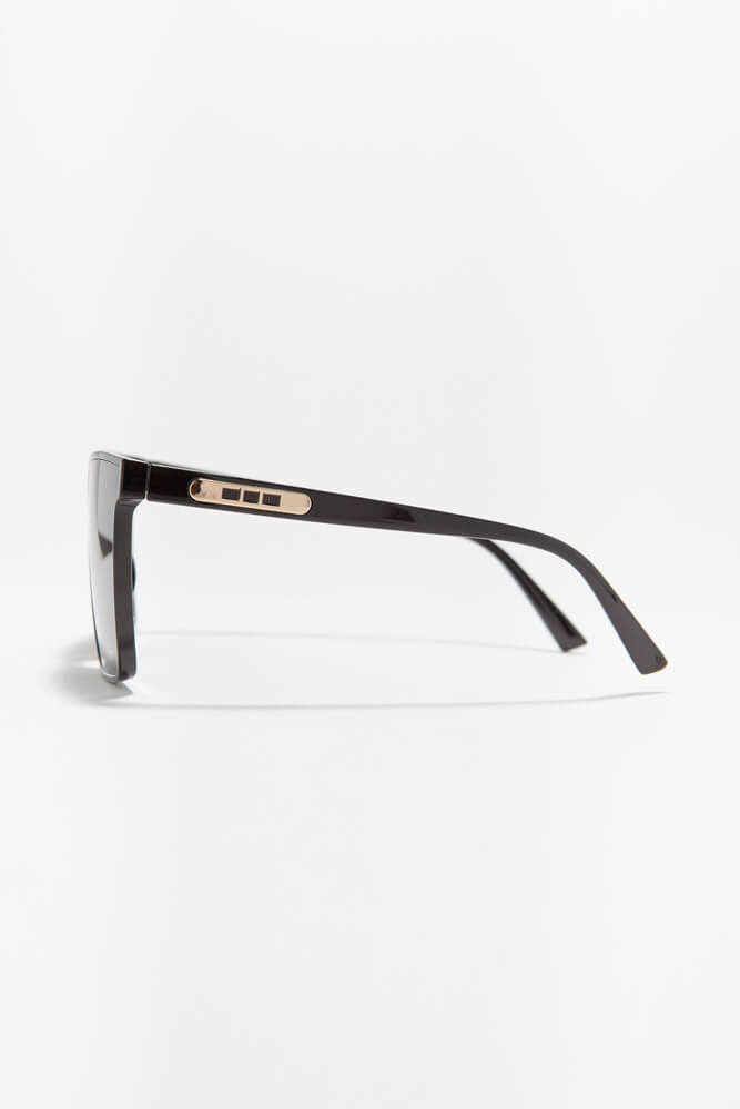 Keep Me In Mind Square Sunglasses BLACK