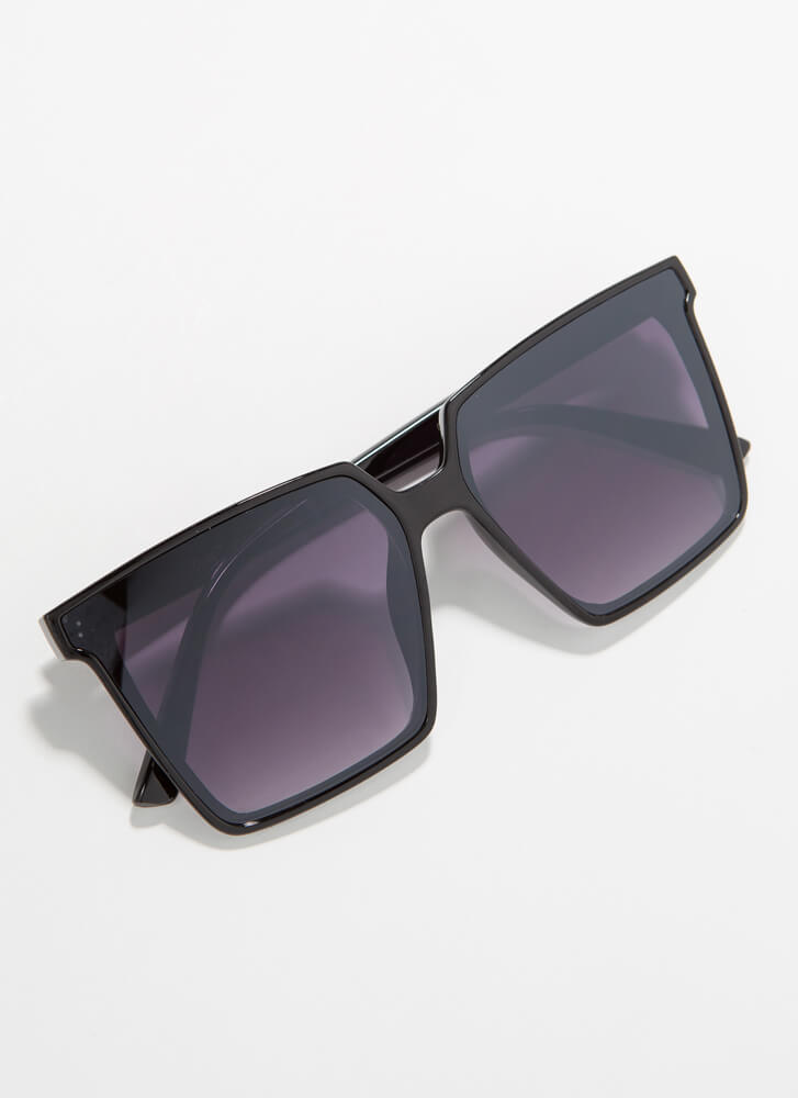 Keep Me In Mind Square Sunglasses BLACKGREY
