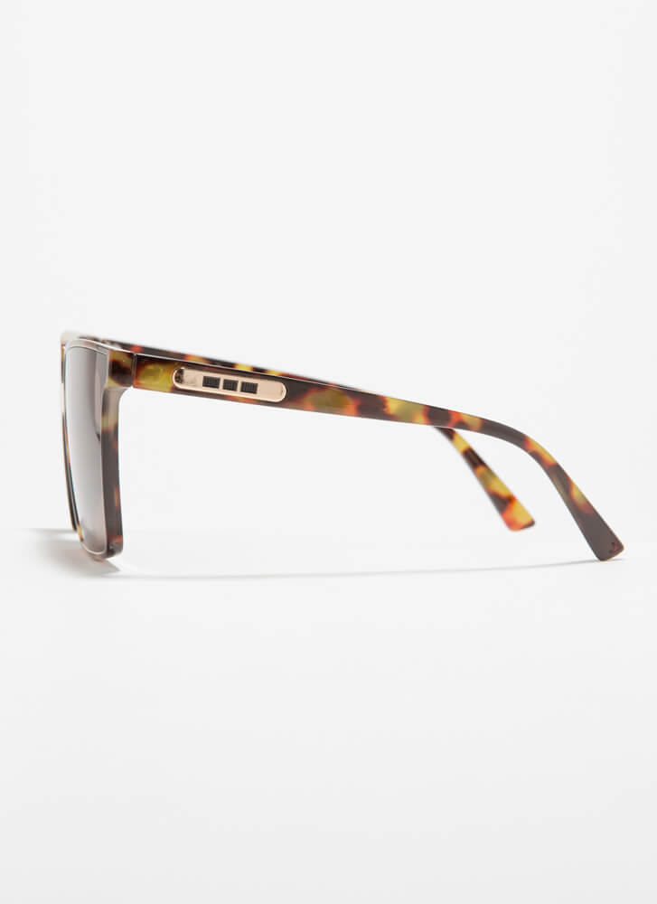 Keep Me In Mind Square Sunglasses BROWN