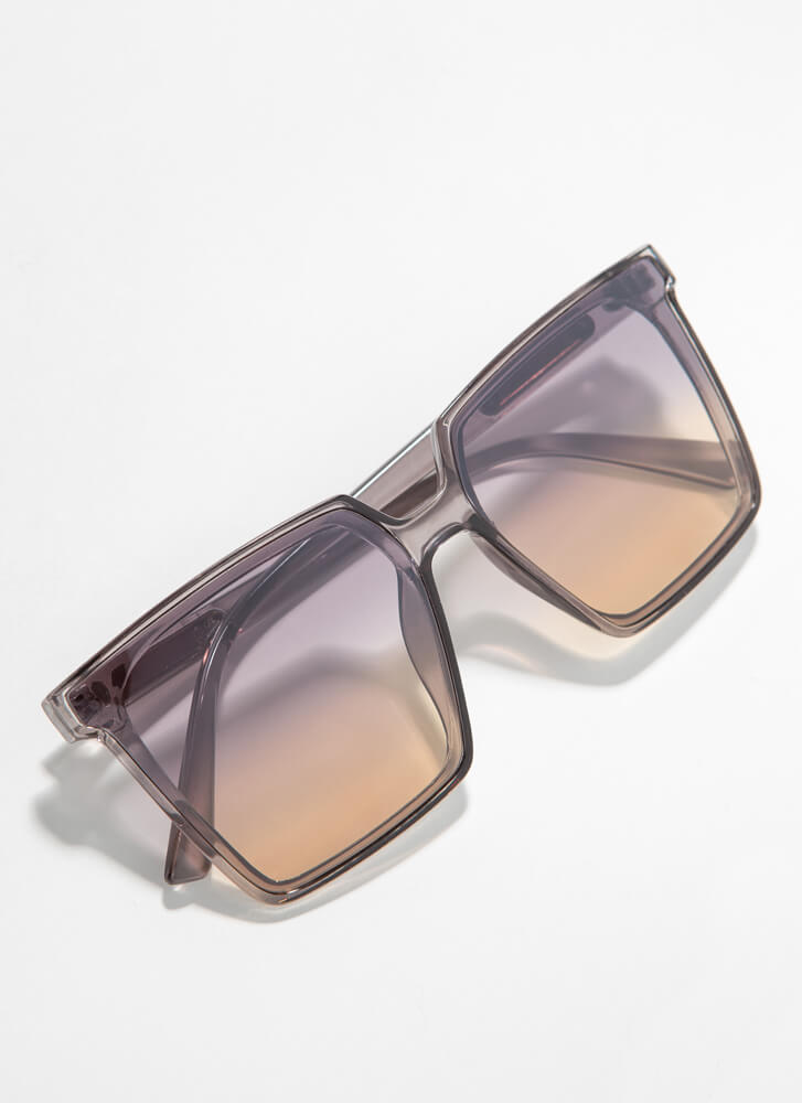 Keep Me In Mind Square Sunglasses GREY