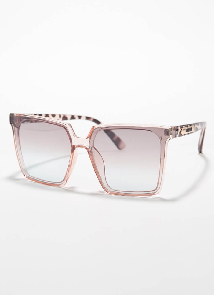 Keep Me In Mind Square Sunglasses PINK