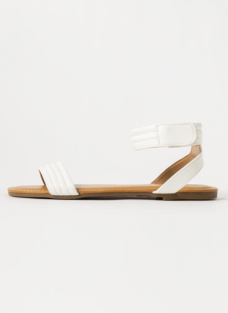 Make It Modern Ankle Strap Sandals WHITE