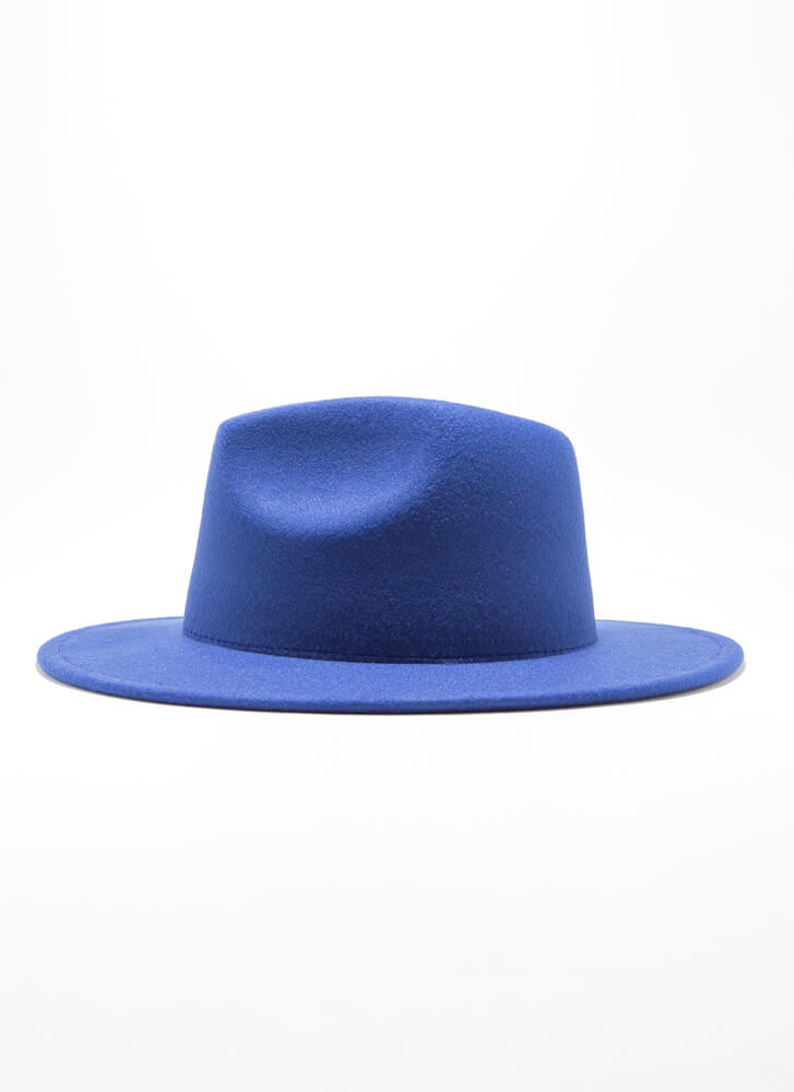 Inside Story Felted Two-Toned Fedora BLUE