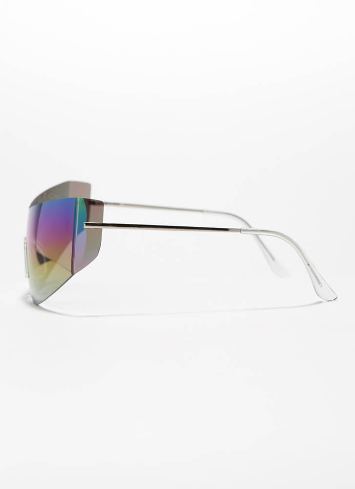 She Curved You Frameless Sunglasses MIRROR